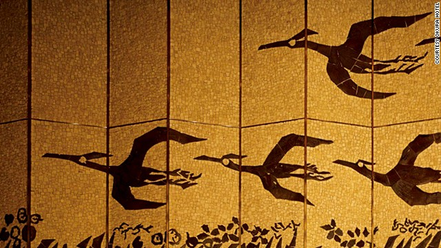 Added in 1973, Hotel Okura's south wing will remain open during renovations. Its interior is meant to showcase the beauty of Japanese design -- the lobby features a flock of ceramic mosaic birds.