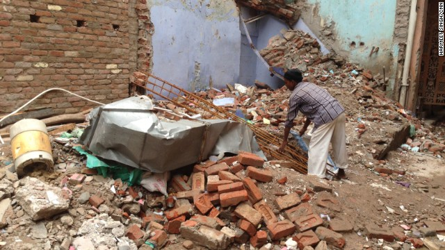 Buildings in Indian cities are often unplanned and strung together in cramped rows, without space between them, which experts say can be disastrous if one is more structurally vulnerable than the others.