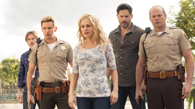 """When """"True Blood"""" met its true death with its series finale on August 24, it had the nerve to drag one of its central characters with it. (This person may or may not be pictured. We're not telling in case someone out there hasn't watched the finale yet.) Fans were divided on the ending."""