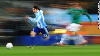 Panning for World Cup photo gold