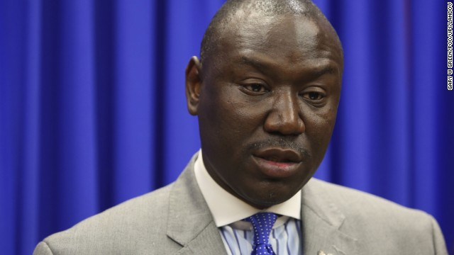 Attorney Benjamin Crump, who represented Trayvon Martin's parents, is currently representing the family of Robbie Tolan, a former baseball player shot in Texas by a police officer in 2008.
