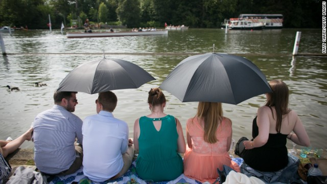 As is often the case in Britain, if you're attending Henley then it's best to come armed with an umbrella.