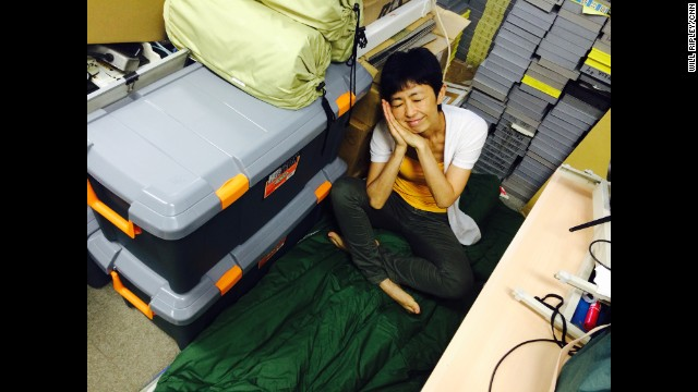 "TOKYO: ""The (not so) glamorous life of a network producer. Yoko slept here during a break in our typhoon coverage."" - CNN's Will Ripley, July 8. Follow Will (<a href='http://instagram.com/willripleycnn' target='_blank'>@willripleycnn</a>) and other CNNers along on Instagram at <a href='http://instagram.com/cnn' target='_blank'>instagram.com/cnn</a>."