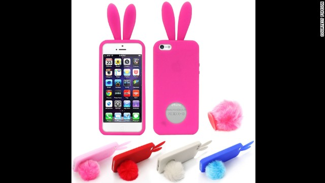 This popular rubber bunny case is widely available online and in stores, in a variety of colors. With hundreds of brand-name and generic manufacturers, you can own one for about $3.