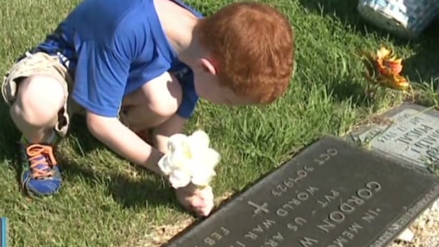 See His Act of Kindness at Cemetery