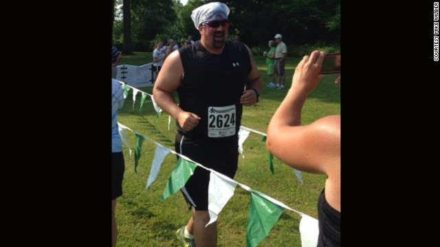 Mike Wilber beat his first 5K goal time by more than 30 seconds on June 28.