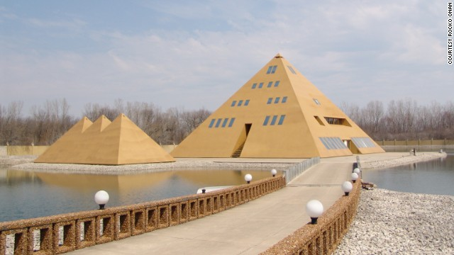 The six-story Gold Pyramid House in Wadsworth, Illinois, is a shrine to ancient Egypt, where visitors have toured the 17,000 square foot house since the late 1970s.