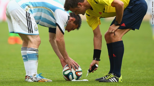 It has been introduced in order to give top stars such as Lionel Messi more of a chance to show their dead-ball skills.