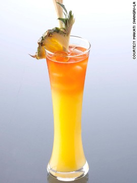What makes the Manila Sunshine distinctly Filipino is the base of lambanog, or coconut wine, an ingredient produced mainly in the province of Quezon. It also has pineapple and mango with a tinge of triple sec and dark Tanduay rum.