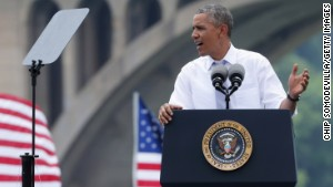 President Obama, under increasing pressure for his job performance, has called on Congress to close tax loopholes and use the money to pay for infrastructure projects.
