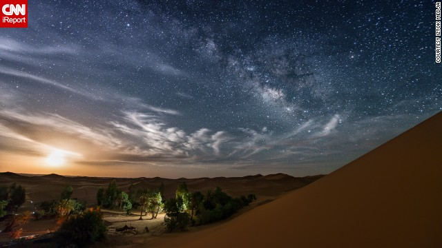 This breathtaking moonrise over the Sahara was taken by Slovenia-based photographer<a href='http://ireport.cnn.com/docs/DOC-1150114' target='_blank'> Iztok Medja</a>, while in Morocco. In a former job as a nautical skipper, he would spend many night shifts gazing longingly at the sky. He says that it was while he was away from the light pollution of the city that his passion for night photography emerged.
