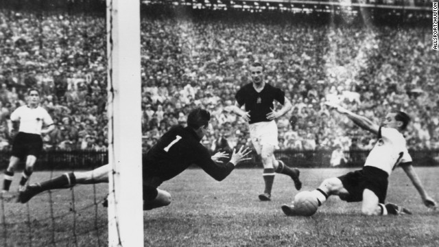 "West Germany 3-2 Hungary (1954): A Hungarian side led by Ferenc Puskas had trounced the Germans 8-3 in the group stage and so dominant were the ""Mighty Magyars"" 60 years ago they were expected to do the same in the final. But in the ""Miracle in Bern"" a team made up of amateurs from post-war-torn West Germany pulled off a monumental shock."
