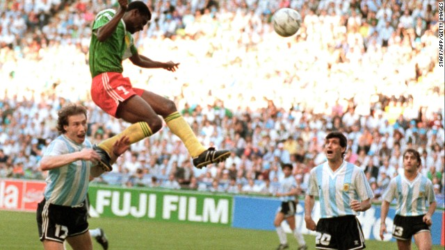 Argentina 0-1 Cameroon (1990): Argentina was defending champion and, inspired by Diego Maradona in midfield, was expected on the opening day of the tournament to ease past a team which had drawn all three previous matches on its only other World Cup appearance. But Cameroon pulled off a remarkable shock as forward Francois Omam-Biyick headed the only goal in Milan, while two of his teammates were sent off.