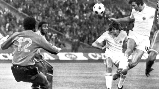 Yugoslavia 9-0 Zaire (1974): It's the record winning margin in World Cup history, matching Hungary's scoreline over South Korea 20 years earlier. The Zaire players nearly did not take to the pitch after being told they would not be paid before then being threatened by the secret service of ruler Mobutu Sese Seko. Once on the pitch, a rout ensued. Hungary scored 10 goals against El Salvador in 1982, but the Central American side did manage a consolation in reply.