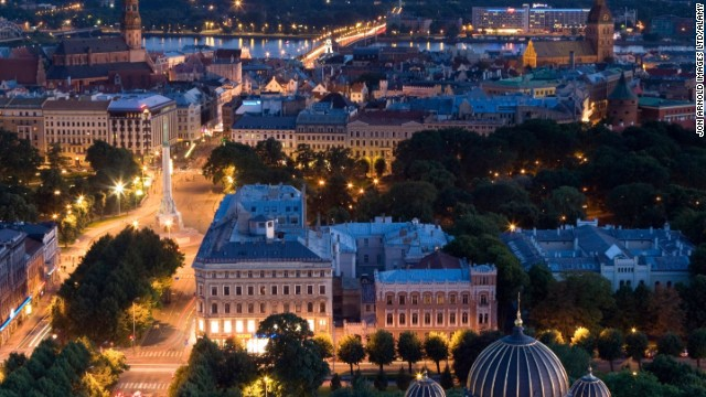The capital of Latvia is a hotbed of historic culture. Well-preserved buildings line the streets of Riga, the perfect backdrop for a romantic street stroll.