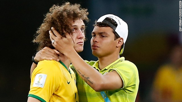 31dc40d4a Brazil s stand-in captain David Luiz was left in tears after his side was  thrashed