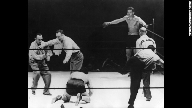 Joe Louis vs. Max Schmeling: It was 1938, and World War II was imminent. Schmeling, a German, had knocked out the Brown Bomber in their first fight. When the boxers fought again in front of 70,000 fans at Yankee Stadium -- with millions listening on the radio -- Louis came out swinging and put Schmeling down in about two minutes, according to the International Boxing Hall of Fame.