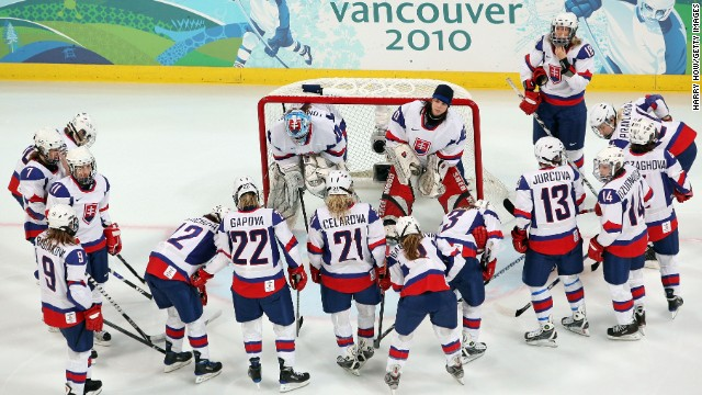 Olympic hockey qualifying: At an Olympics qualifying event in 2008, Slovakia's women's hockey team, seen here in 2010, thrashed Bulgaria 82-0. That's a goal every 44 seconds. The Slovakians took 139 shots to Bulgaria's zero, and they scored on 59% of their shots, ESPN reported. When they got to the Olympics, however, they ran into a buzzsaw known as Canada, losing 18-0.