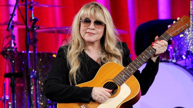 "Stevie Nicks, seen here receiving the BMI Icon Award at the 2014 BMI Pop Awards in May, is the newest musician to join the cast of NBC's ""The Voice."" But before she was on ""The Voice's"" team, she was a rocking member of Fleetwood Mac:"