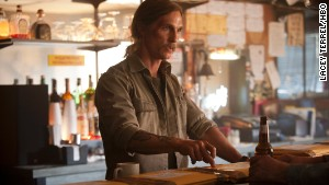 Matthew McConaughey\'s Rust Cohle is down on the world.