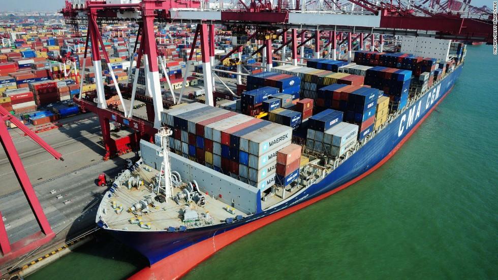 Cambio en el transporte por barco