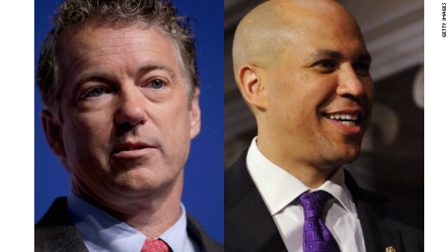 Booker, Paul take a selfie; talk criminal justice reform, technology and show tunes