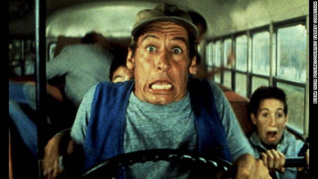 "Meeting characters like maintenance man and country philosopher Ernest can make camp a growth experience for kids. Here in 1987's ""Ernest Goes to Camp,"" Jim Varney takes campers for a spin."