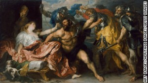 Gaza\'s earliest references include Samson and Delilah. (Image from the Art History Museum, Vienne.)
