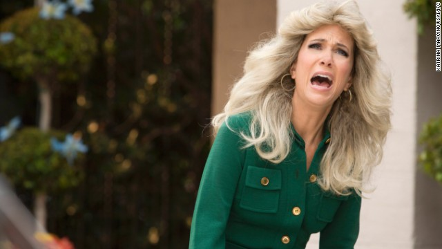 """Kristen Wiig was nominated for <strong>Best Actress in a Miniseries or Movie </strong>for her role in the IFC spoof, """"The Spoils of Babylon."""" Joining her were Jessica Lange and Sarah Paulson, both in """"American Horror Story: Coven,"""" Helena Bonham Carter (""""Burton and Taylor""""), Minnie Driver (""""Return to Zero""""), and Cicely Tyson (""""The Trip To Bountiful"""")."""