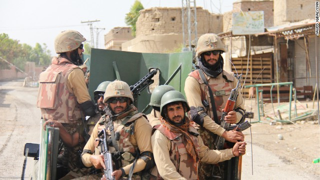 Thousands of Pakistan troops poured into the region following a massive air bombardment.