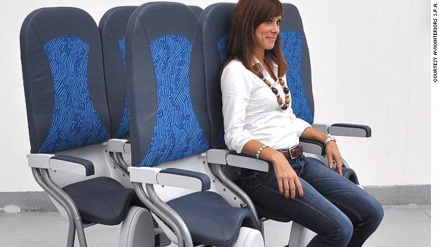 Airbus patenta los asientos-sillín en aviones