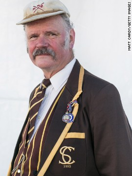Some attendees, such as Richard Rowland from The Skiff Club in London, take the chance to dress up in traditional uniforms.