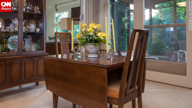 The dining room furniture has a charm all its own.