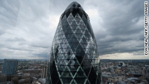 The Gherken looks like a giant suppository. Symbolism at its finest.