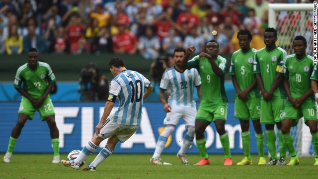 Nigeria found that out the hard way in the group stage when Messi curled a free kick into the back of the net during Argentina's 3-2 victory.