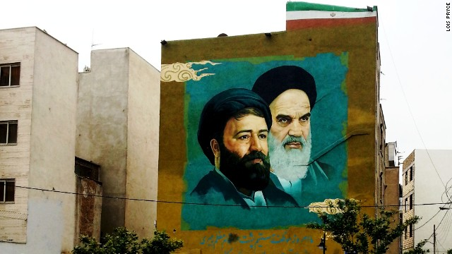 Murals, posters and banners of Iran's Supreme Leader <a href='http://edition.cnn.com/2012/12/30/world/meast/ayatollah-seyyed-ali-khamenei---fast-facts/'>Ayatollah Seyyed Ali Khamenei</a> and Imam Khomeini loom over streets, parks and public buildings.