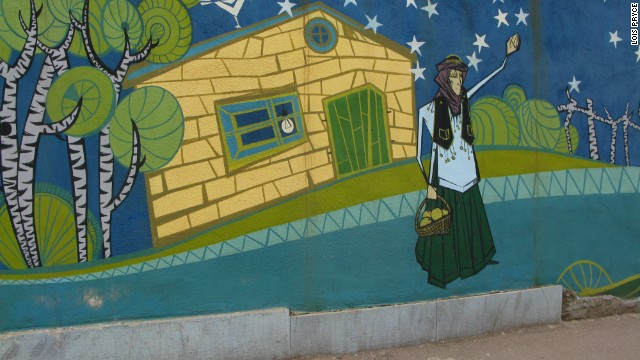 Iranian streets are decorated with murals, from the militaristic to the mundane.