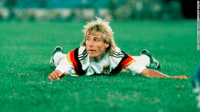 Jürgen Klinsmann: Dives, goals big hair and some bananenflanken