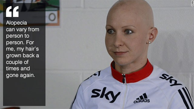 Joanna Row Cycling S Golden Pedals Past Alopecia