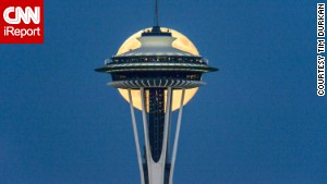 It took Tim Durkan a few stretches of lonely nights to get the perfect shot of the supermoon over the weekend.