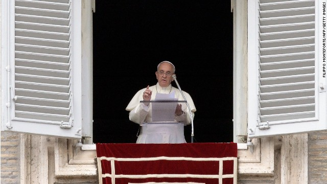 Pope Francis called for renewed efforts towards peace in the Middle East before Sunday's Angelus prayer.