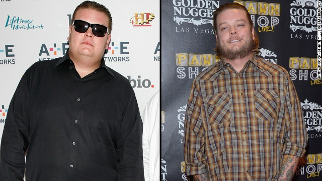 "Corey Harrison from the hit reality show ""Pawn Stars"" once tipped the scales at more than 400 pounds. He<a href='http://www.people.com/article/pawn-stars-corey-harrison-amazing-weight-loss' target='_blank'> told People magazine</a> he shed weight through surgery and exercise."