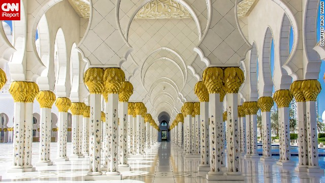 The <a href='http://ireport.cnn.com/docs/DOC-1150483'>Sheikh Zayed Grand Mosque</a> in Abu Dhabi, United Emirates, is a testament to Islamic architecture with more than 80 marble domes, 24-carat gilded chandeliers and the world's largest hand-knotted carpet.
