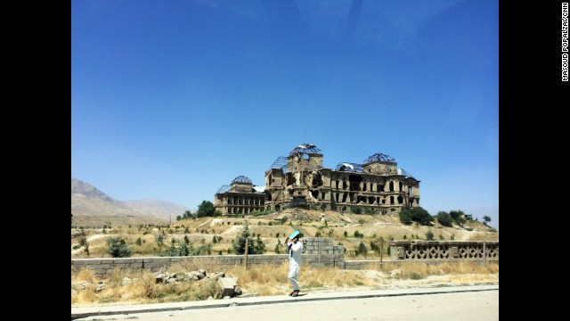 KABUL, AFGHANISTAN: A man walks past Darul Aman Palace in Kabul. Photo by CNN's Masoud Popalzai, July 15. Darul Aman Palace is a European-style palace, now ruined, located about sixteen kilometers outside of the center of Kabul. Follow Masoud (<a href='http://instagram.com/masoudpopalzai' target='_blank'>@masoudpopalzai)</a> and other CNNers along on Instagram at <a href='http://instagram.com/cnn' target='_blank'>instagram.com/cnn</a>.