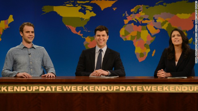 "Brooks Wheelan, left, appearing with Colin Jost and Cecily Strong on ""Saturday Night Live,"" recently tweeted that he was ""fired"" after one season on the show. He's not the first to be dumped from the late-night series."