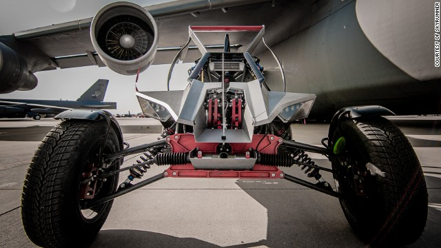 Created by UK-based aircraft manufacturer <a href='http://www.parajet.com/' target='_blank'>Parajet</a>, this all terrain vehicle can soar up to 15,000 ft with it