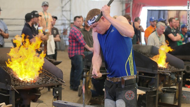 The Calgary Stampede, one of the world's biggest equestrian events held each July in the Canadian city, plays host to an annual world championships for farriers.