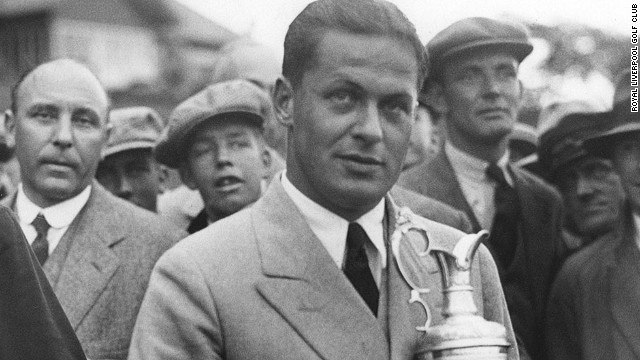 Jones clutches the Claret Jug after his triumph. Having secured both British titles on offer, he headed back home to complete the grand slam by winning the U.S. Open and the U.S. Amateur -- taking him to 13 majors overall.