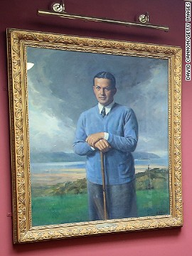 Jones' portrait still hangs in the clubhouse at Hoylake. He was invited back for its centenary year in 1969 but was prevented from attending by ill health. In his correspondence with the club he noted that it was at Hoylake he played his first and last competitive rounds in Britain.