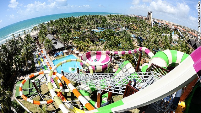 Beach Park Brazil, second-best water park, features Insano, one of the world's tallest and fastest water slides.